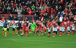 Players emerge from the tunnel at Ashton Gate Stadium for Bristol City v Nottingham Forest - Mandatory by-line: Paul Knight/JMP - 01/10/2016 - FOOTBALL - Ashton Gate Stadium - Bristol, England - Bristol City v Nottingham Forest - Sky Bet Championship