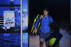 November 13, 2017 - London, England, United Kingdom - Rafael Nadal of Spain walks out for his Singles match against David Goffin of Belgium during day two of the Nitto ATP World Tour Finals at O2 Arena, London on November 13, 2017. (Credit Image: © Alberto Pezzali/NurPhoto via ZUMA Press)