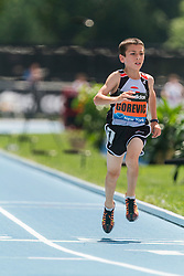 Youth Boys Mile winner 10 year old Jonah Gorevic, 5:01.55 (world record?), adidas Grand Prix Diamond League track and field meet