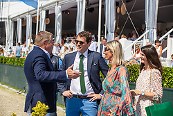 Mathy Prizegiving, Conter Stefan, Mireille Puttevils, <br /> Grand Prix Rolex powered by Audi <br /> CSI5* Knokke 2019<br /> © Dirk Caremans<br /> Prizegiving, Conter Stefan, Mireille Puttevils,