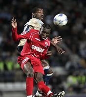 Fotball<br /> Foto: Dppi/Digitalsport<br /> NORWAY ONLY<br /> <br /> FOOTBALL - UEFA CUP 2005/2006 - GROUP STAGE - GROUP F - OLYMPIQUE MARSEILLE v DINAMO BUCAREST - 14/12/2005<br /> <br /> MARIKO DAOUDA (DIN) / ANDRES MENDOZA (OM)