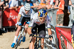 Wout VAN AERT (BEL) during the Men Elite race at the 2018 Telenet Superprestige Cyclo-cross #1 Gieten, UCI Class 1, Gieten, Drenthe, The Netherlands, 14 October 2018. Photo by Pim Nijland / PelotonPhotos.com | All photos usage must carry mandatory copyright credit (Peloton Photos | Pim Nijland)