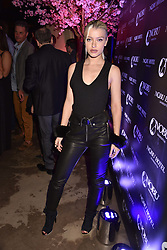 Alice Chater at the launch of Nobu Hotel London Shoreditch,10-50 Willow Street, London, England. 15 May 2018.