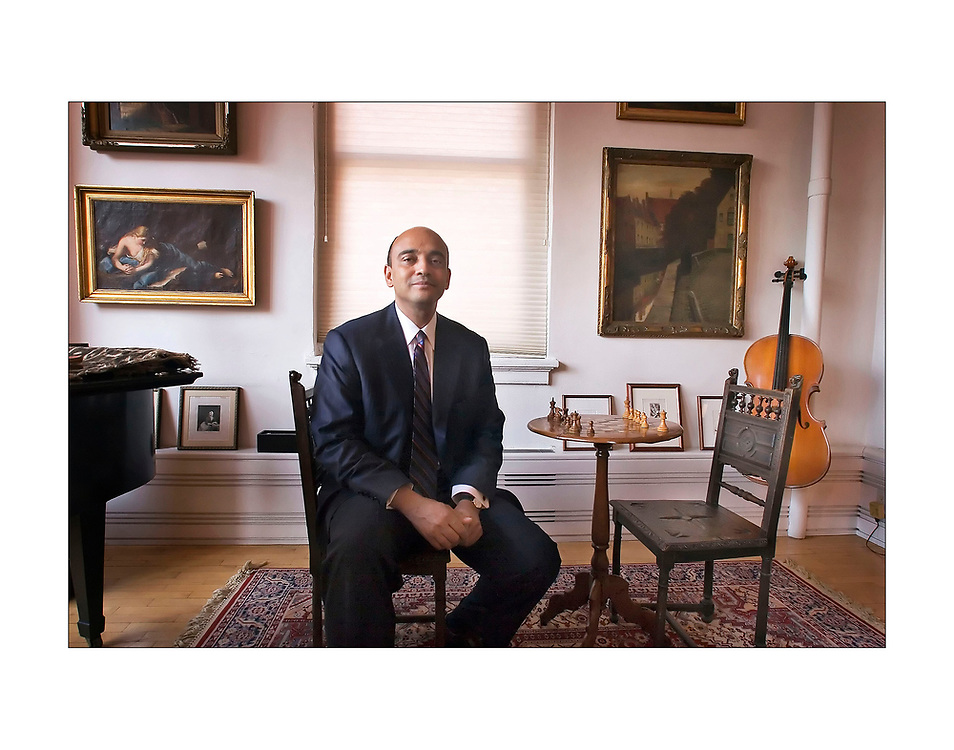 Kwame Anthony Appiah, the Laurance Rockefeller University Professor of Philosophy at Princeton, sits in the living room of his New York City apartment on a winter afternoon in January.
