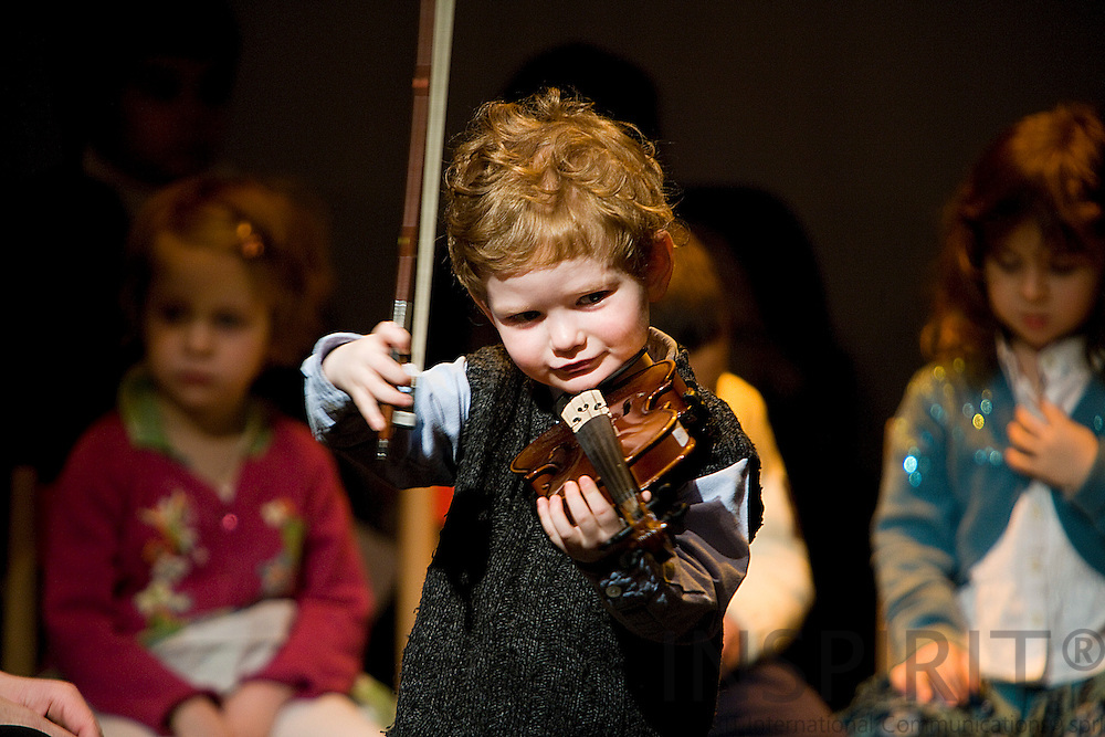 Wezembeek-Oppen - BELGIUM - 05 MARCH 2009 --  Montessori School Violin, Piano & Guitar Concerts at the Cultural Centre De Kam.  Photo: Erik Luntang/INSPIRIT Photo