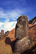 Moai (tiki), Easter Island, Rapa  Nui, Chile<br />