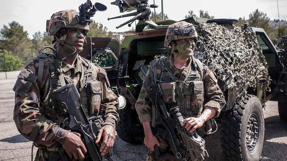 Foreign Legionnaires at Carpiagne camp (South East france) <br />