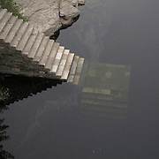 Rio Miño en Portomarin. Galicia. España. Miño river in Portomarin, Galicia. Spain . The WAY OF SAINT JAMES or CAMINO DE SANTIAGO following the French Route, between Saint Jean Pied de Port and Santiago de Compostela in Galicia, SPAIN. Tradition says that the body and head of St. James, after his execution circa. 44 AD, was taken by boat from Jerusalem to Santiago de Compostela. The Cathedral built to keep the remains has long been regarded as important as Rome and Jerusalem in terms of Christian religious significance, a site worthy to be a pilgrimage destination for over a thousand years. In addition to people undertaking a religious pilgrimage, there are many travellers and hikers who nowadays walk the route for non-religious reasons: travel, sport, or simply the challenge of weeks of walking in a foreign land. In Spain there are many different paths to reach Santiago. The three main ones are the French, the Silver and the Coastal or Northern Way. The pilgrimage was named one of UNESCO's World Heritage Sites in 1993. When there is a Holy Compostellan Year (whenever July 25 falls on a Sunday; the next will be 2010) the Galician government's Xacobeo tourism campaign is unleashed once more. Last Compostellan year was 2004 and the number of pilgrims increased to almost 200.000 people.