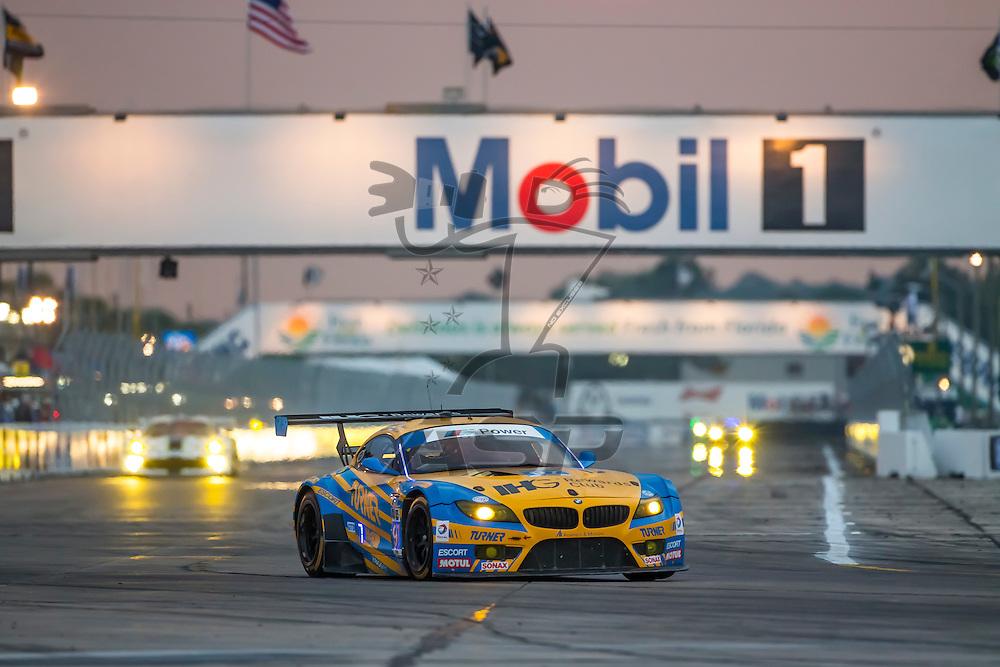 Sebring, FL - Mar 19, 2015:  The Turner Motorsport BMW Z4 races through the turns at 12 Hours of Sebring at Sebring Raceway in Sebring, FL.