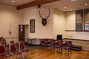 Ballard Elks Club. The main meeting hall set up for the monthly initiation ceremony.<br /> <br /> Matt Lutton / Boreal Collective for Buzzfeed