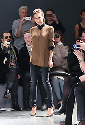 Victoria Beckham at the end of her Victoria show  at New York Fashion Week for Autumn/Winter 2013 , Tuesday, February 12th 2013. Photo by: Stephen Lock / i-Images