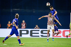 Ivan Perisic of Croatia and Giorgos Tzavellas of Greece during the football match between National teams of Croatia and Greece in First leg of Playoff Round of European Qualifiers for the FIFA World Cup Russia 2018, on November 9, 2017 in Stadion Maksimir, Zagreb, Croatia. Photo by Ziga Zupan / Sportida