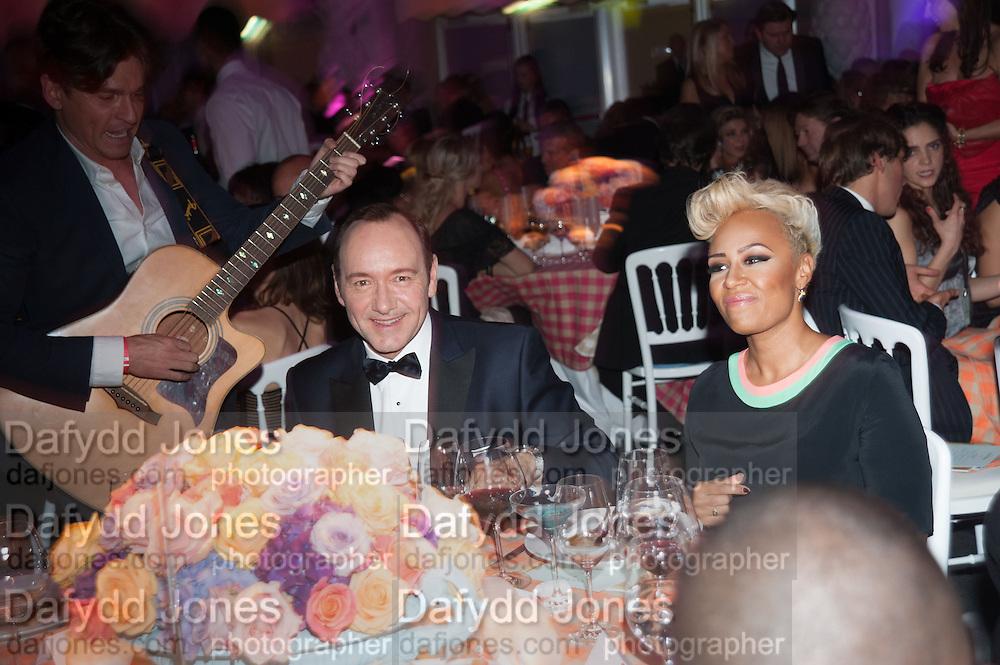 KEVIN SPACEY; EMILIE SANDE; , Grey Goose Winter Ball to benefit the Elton John Aids Foundation. Battersea Power Station. London. 10 November 2012.
