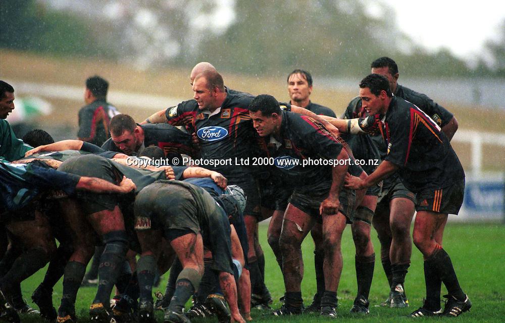 Chiefs Scrum, Super 12, Rugby Union, 2000. Photo: PHOTOSPORT