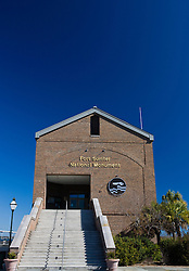 Fort Sumter National Monument visitor's center, Charleston, South Carolina, United States of America.