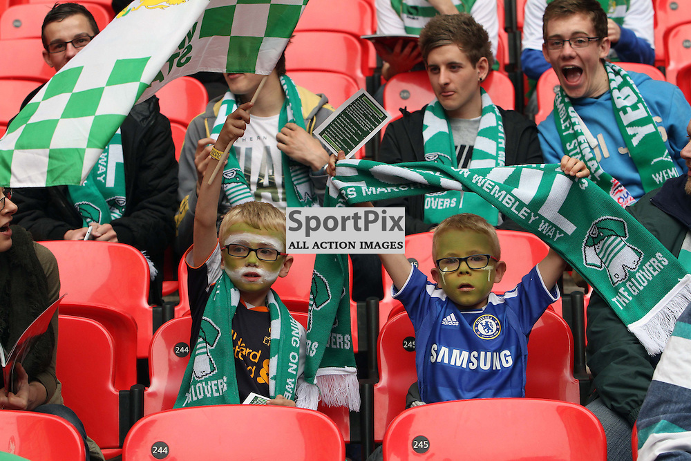 Young Yeovil fans. Brentford v Yeovil, npower League 1 Pay Off Final, Wembley Stadium © Phil Duncan | StockPix.eu