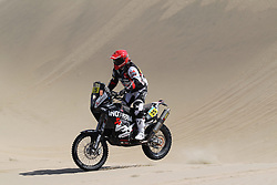Slovenian Enduro Biker Miran Stanovnik competes during 35th rally Dakar - 2013 edition from Lima (Peru) towards Santiago (Chile), on January 6, 2013. (Photo by MaindruPhoto)