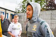 Leeds United forward Helder Costa (17) arrives at the ground during the Pre-Season Friendly match between Guiseley  and Leeds United at Nethermoor Park, Guiseley, United Kingdom on 11 July 2019.