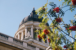 Nottingham council house viewed in spring,