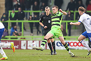 Forest Green Rovers Lee Collins(5) on the ball during the EFL Sky Bet League 2 match between Forest Green Rovers and Mansfield Town at the New Lawn, Forest Green, United Kingdom on 24 March 2018. Picture by Shane Healey.