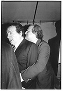 Jackie Mason  and Bobby Zarem© Copyright Photograph by Dafydd Jones 66 Stockwell Park Rd. London SW9 0DA Tel 020 7733 0108 www.dafjones.com