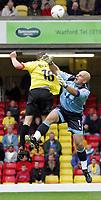 Fotball<br /> England 2004/2005<br /> Foto: SBI/Digitalsport<br /> NORWAY ONLY<br /> <br /> Watford v Reading<br /> Coca-Cola championship. Vicarage Road.<br /> 25/09/2004<br /> Reading's Marcus Hahnemann saves a goal by Watford's Heidar Helguson