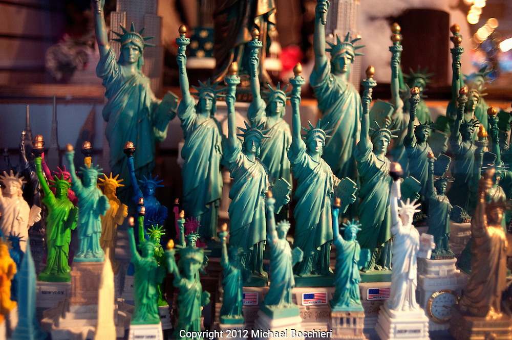 NEW YORK, NY - February 16:  Statues of the the Statue of Liberty on February 16, 2012 in NEW YORK, NY.  (Photo by Michael Bocchieri/Bocchieri Archive)