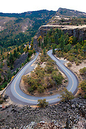 National Geographic Sea Lion's Columbia River Expedition in the Pacific Northwest in the Columbia River Gorge. The famouse Rowena Crest Overlook and the sinuous historic Columbia River Highway.