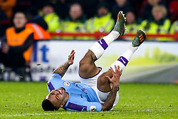 Gabriel Jesus of Manchester City looks in pain after picking up an injury - Mandatory by-line: Robbie Stephenson/JMP - 21/01/2020 - FOOTBALL - Bramall Lane - Sheffield, England - Sheffield United v Manchester City - Premier League
