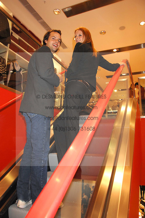 CHARLIE GILKES and OLIVIA INGE at a party to celebrate the opening of the new Uniqlo store at 331 Oxford Street, London W1 on 6th November 2007.<br /><br />NON EXCLUSIVE - WORLD RIGHTS