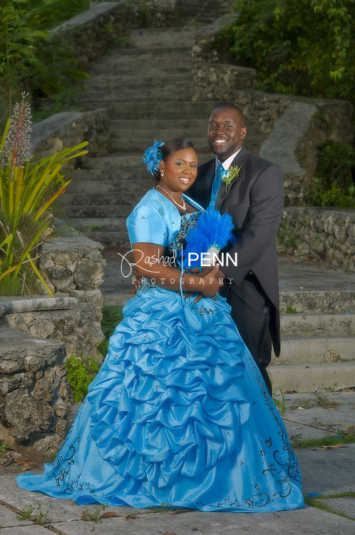 Wedding photos of Mr Lavardo and Sharmaine Kemp titled by the Tribune news as the Patriotic Wedding that took place on Independence Day in the Bahamas