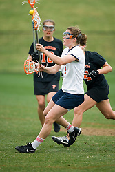Virginia Cavaliers A Blair Weymouth (2) in action against Princeton.  The Virginia Cavaliers women's lacrosse team defeated the Princeton Tigers 9-7 at Klockner Stadium in Charlottesville, VA on March 24, 2007.