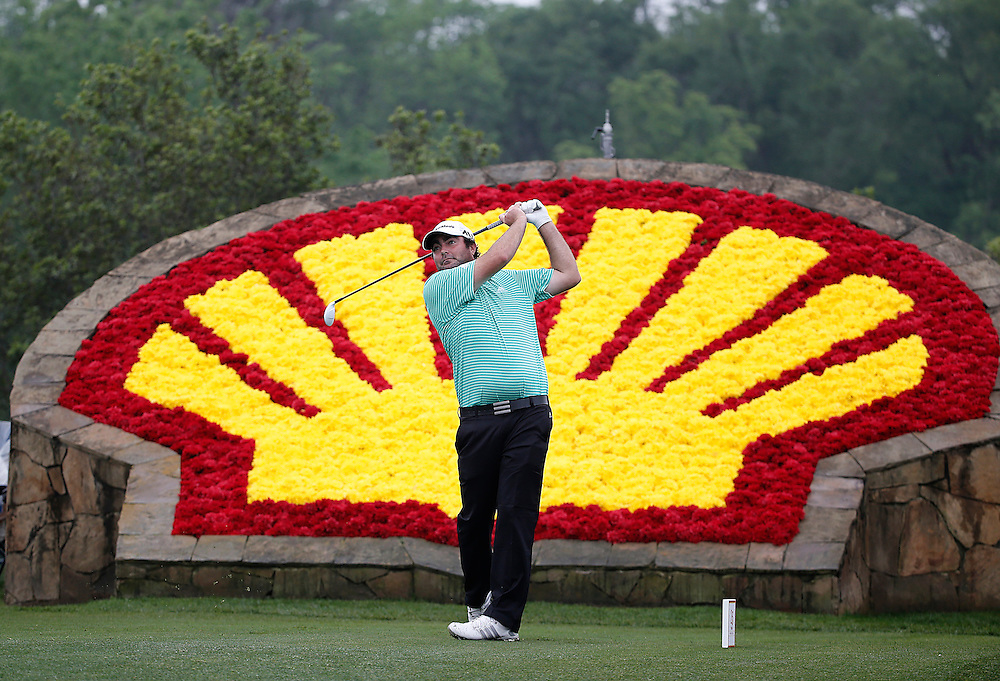 Steven Bowditch drives off of the 18th tee box in the Shell Houston Open-Round 1 at the Golf Club of Houston on Wednesday, March 31, 2016 in Humble, TX. (Photo: Thomas B. Shea/For the Chronicle)