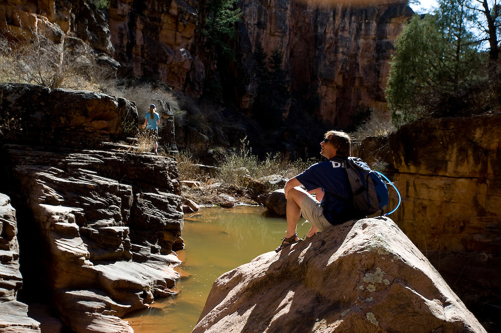 Hiking and swimming in Nutria Canyon, New Mexico