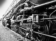 "Retired ""Big Boy"" steam locomotive at Steamtown, USA, National Park."