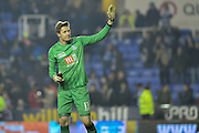 Crystal Palace goalkeeper Wayne Hennessey thanks fans after the The FA Cup Quarter Final match between Reading and Crystal Palace at the Madejski Stadium, Reading, England on 11 March 2016. Photo by Mark Davies.