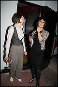 ANNA MACONOCHIE; MIRIAM ELIA, Opening of the Trouble Club., Lexington St. Soho London. 6 November 2014