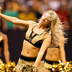 August 27, 2010; New Orleans, LA, USA; New Orleans Saints Saintsations cheerleaders perform during the second half of a preseason game at the Louisiana Superdome. Mandatory Credit: Derick E. Hingle-US PRESSWIRE