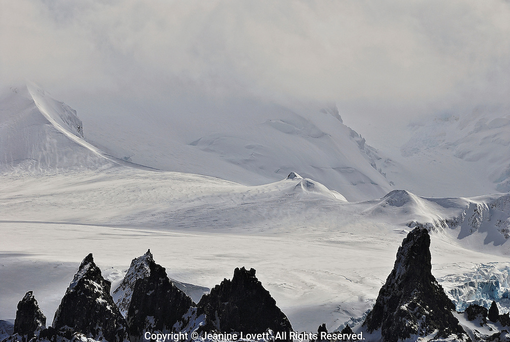 Gagued edge of the land of Antarctic Peninsula,  Bransfield Straight.