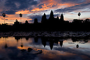 Angkor Wat, Siem Reap, Cambodia at sunset.