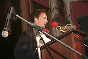 THE WINNER OF THE PRIZE: IAIN HOLLINGSHEAD (PASSAGES IN  HIS BOOK TWENTY SOMETHING) , Literary Review's Bad Sex In Fiction Prize.  In & Out Club (The Naval & Military Club), 4 St James's Square, London, SW1, 29 November 2006. <br />