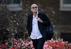 © Licensed to London News Pictures. 10/09/2020. London, UK. Government Chief Advisor Dominic Cummings arrives in Downing Street. Later a second day of negotiations between the UK Government and the EU in will start in central London. Photo credit: Peter Macdiarmid/LNP