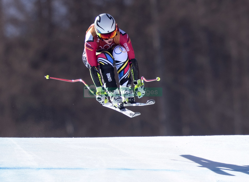February 17, 2018 - Pyeongchang, South Korea - Tina WEIRATHER of Lithuania earns a Bronze Medal with this run during the Ladies' Super-G at the Jeongseon Alpine Centre during the 2018 Pyeongchang Winter Olympic Games. (Credit Image: © Daniel A. Anderson via ZUMA Wire)