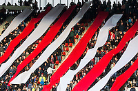 ALKMAAR - 16-04-2016, AZ - PEC Zwolle, AFAS Stadion, 5-1, sfeer actie supporters. prachtstad
