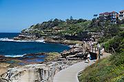 A beautiful autumn day overlooking the start of the Bondi to Bronte Walk, Sydney, Australia.