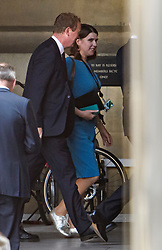 © Licensed to London News Pictures. 04/09/2019. London, UK. Former Liberal Democrat leader TIM FARRON and current leader JO SWINSON are  seen at the Houses of Parliament in Westminster, London. British Prime Minister Boris Johnson has a called for a general election after losing his first commons vote and losing his majority, removing his control of parliament. Photo credit: Ben Cawthra/LNP