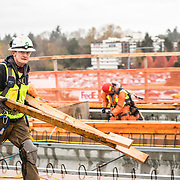 Granite Const. at work in Seattle WA Sound Transit Project 2017