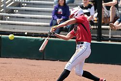 19 April 2014:  Kolby Hoffman during an NCAA women's softball game between the Evansville Purple Aces and the Illinois State Redbirds on Marian Kneer Field in Normal IL
