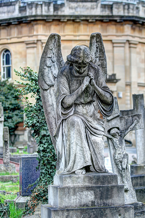 An Angel in Brompton Cemetry London
