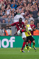 19.10.2013, Signal Iduna Park, Dortmund, GER, 1. FBL, GER, 1. FBL, Borussia Dortmund vs Hannover 96, 9. Runde, im Bild Zweikampf zwischen Salif Sane (#5 Hannover), Henrikh Mkhitaryan (#10 Dortmund) // during the German Bundesliga 9th round match between Borussia Dortmund and Hannover 96 Signal Iduna Park in Dortmund, Germany on 2013/10/19. EXPA Pictures &copy; 2013, PhotoCredit: EXPA/ Eibner-Pressefoto/ Kurth<br /> <br /> *****ATTENTION - OUT of GER*****